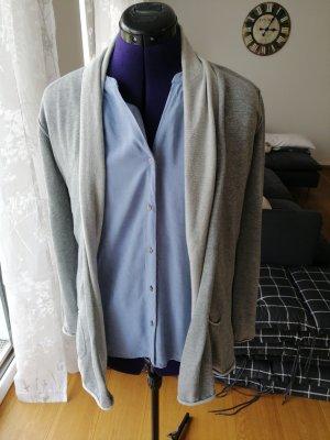 Edc Esprit Gilet long tricoté gris clair