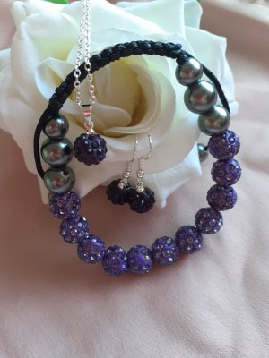 Pearl Necklace grey violet