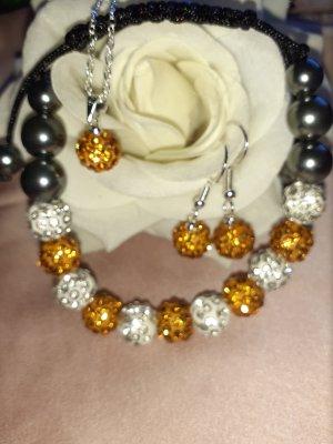 Collana di perle bianco-bronzo