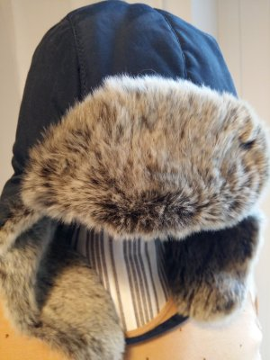Woolrich Cappello da aviatore marrone-grigio-blu scuro