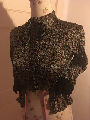 Glanzende blouse veelkleurig