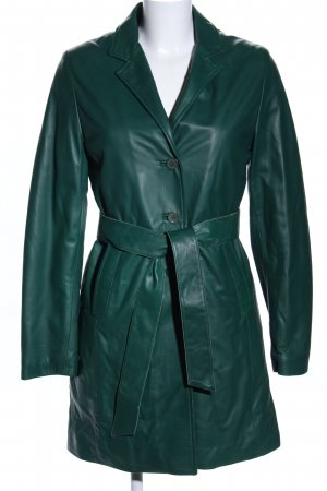 Giacca in pelle verde stile casual