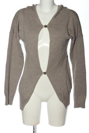 Schella Kann Sweter z kapturem brązowy Melanżowy W stylu casual