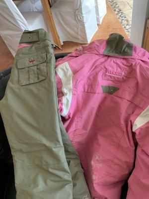 Sportjack roze-khaki Gemengd weefsel