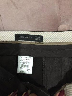 0039 Italy Pantalon en laine brun foncé