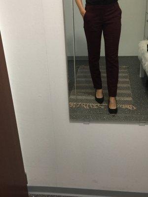 Calliope Pantalon en laine bordeau