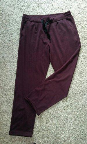 Pantalon de jogging bordeau-rouge carmin