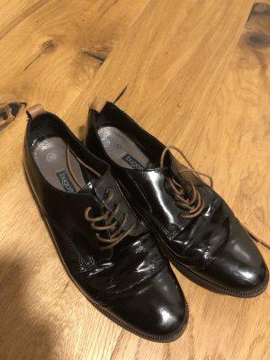 Bugatti Lace Shoes black-cognac-coloured