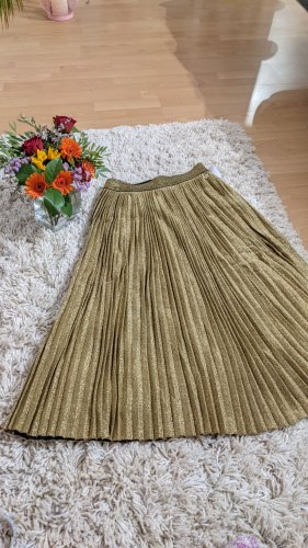 Rich & Royal Pleated Skirt gold-colored