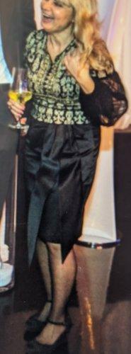 Excellent Plisowana spódnica czarny