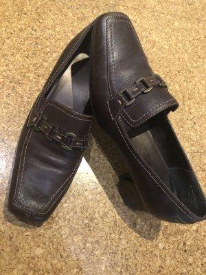 Schicke Absatz Schuhe, Gr. 6, dunkelbraun, Jana
