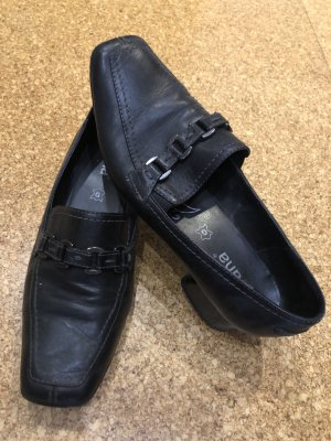 Schicke Absatz Schuhe, Gr. 6, schwarz, Jana