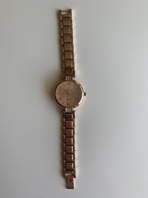 Schicke Armbanduhr in Roségold