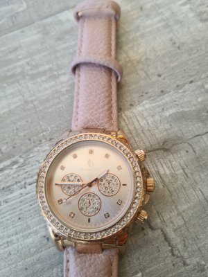 Crystal Blue Watch With Leather Strap rose-gold-coloured