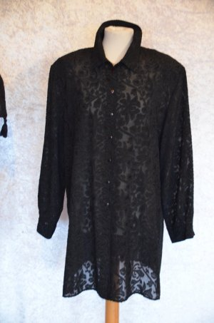 Chic Fabiani Long Sleeve Blouse black polyester