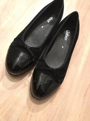 Gabor Patent Leather Ballerinas black-brown