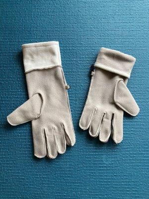 Gant à doigts beige clair