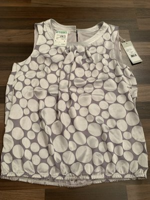 Bianca Short Sleeved Blouse light grey-silver-colored