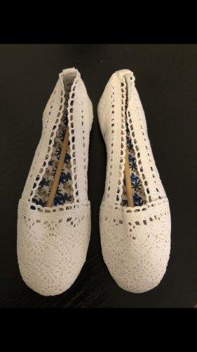 Anna Field Ballerina's met kant wit