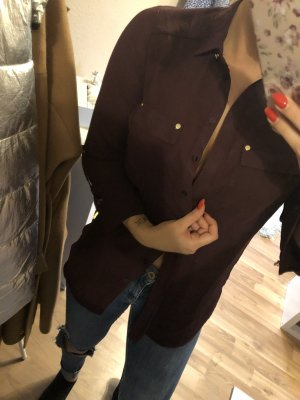 Blouse Collar brown violet
