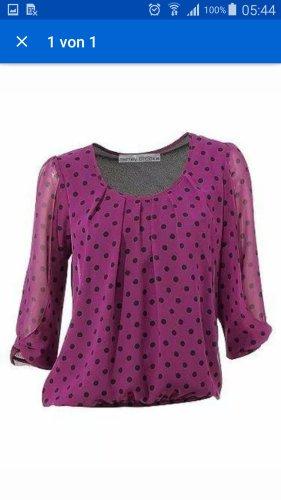 Schicke Bluse in Größe 38 von Heine in der farbe Beere