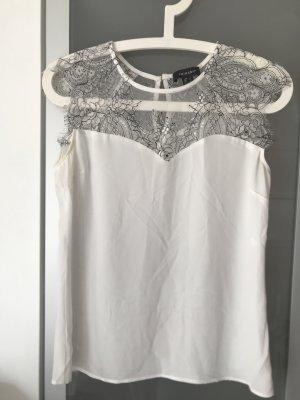 Schicke Bluse in weiß mit Spitze