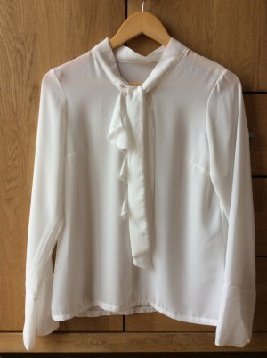 King Kong Tie-neck Blouse white polyester