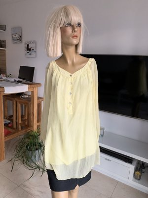 Schicke Bluse .. pastellgelb .. Gr. M/L .. New Collection # Made In Italy # neuwertig