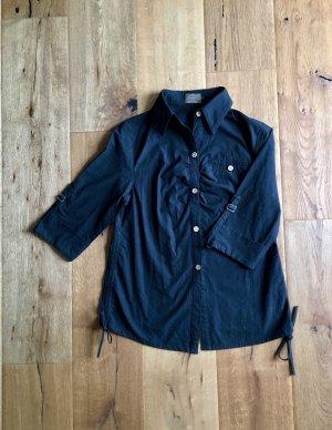 Schicke Bluse schwarz mit Details 36/38