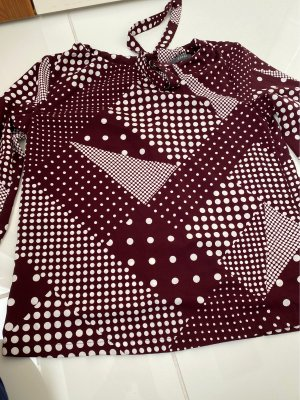 Esprit Blouse Collar blackberry-red-white polyester