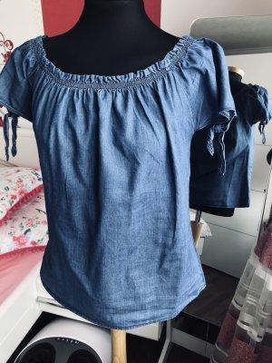 Orsay Carmen blouse staalblauw