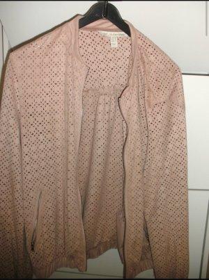 Zara Bomber Jacket light pink-rose-gold-coloured polyester