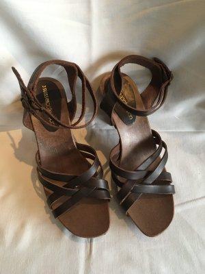 3suisses Sandały na grubym obcasie ciemnobrązowy