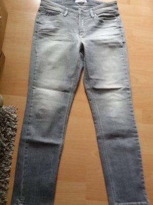 Cambio Jeans Spodnie z pięcioma kieszeniami szary