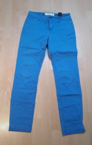 H&M Chinos blue-neon blue