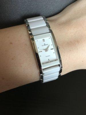 Dugena Reloj con pulsera metálica blanco-color plata