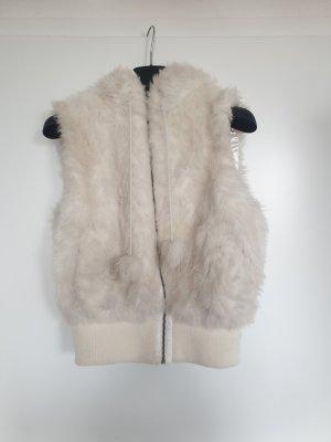 H&M Kamizelka ze sztucznym futrem biały