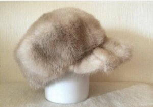 Vintage Fur Hat cream-beige