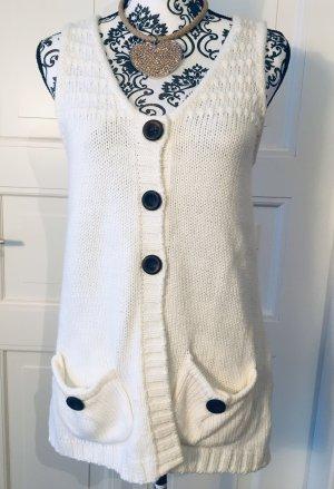 Schicke gemütliche Weste aus weißer Wolle