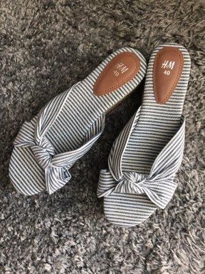 H&M Klompen wit-azuur