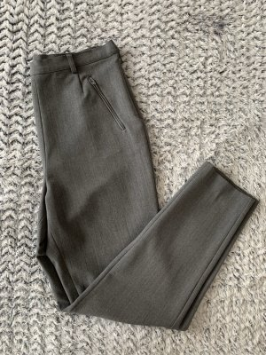 Schicke graue High Waist Stoff-Hose von Blondes