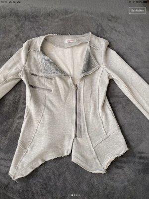 Kurtka o kroju koszulki jasnoszary-srebrny