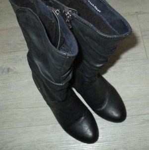 Tom Tailor Halfhoge laarzen zwart Imitatie leer
