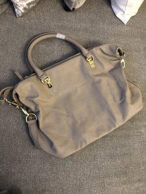 schicke handtasche in grau gold