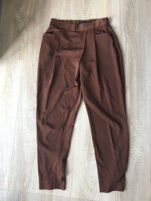 Zara Basic Pantalone alla turca marrone-cognac