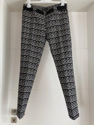 7/8 Length Trousers white-black
