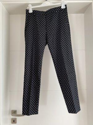 H&M 7/8 Length Trousers white-black cotton