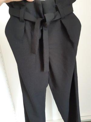 Pieces 7/8 Length Trousers black