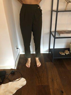 H&M Pantalón de pinza verde oscuro