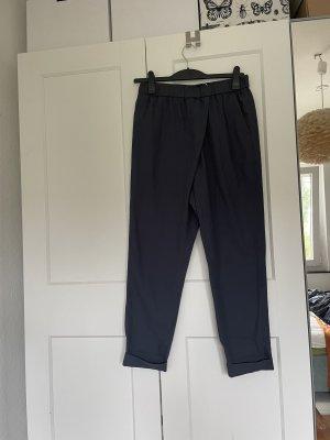 COS Pantalon à pinces bleu foncé